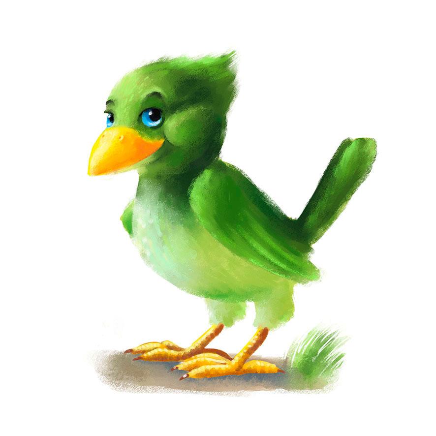 gruener-vogel-malerisch