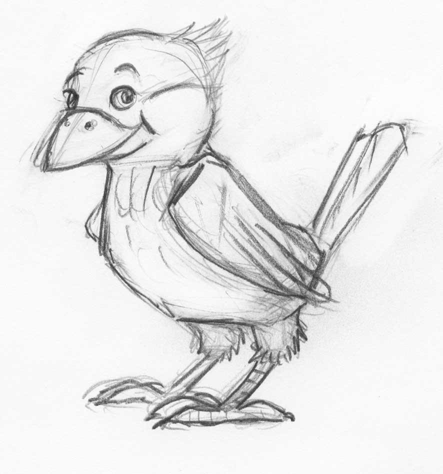 gruener-vogel-skizze