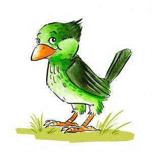 gruener-vogel-zeichnerisch